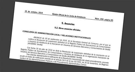 La Junta de Andalucía también expulsa al negocio Ausbanc ...