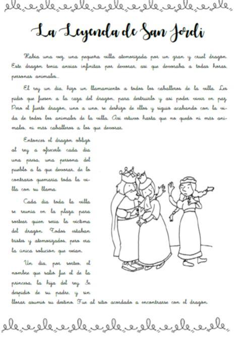 La leyenda de San Jordi. Día del Libro ~ Una Pizca de ...