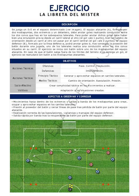 La Libreta del Mister   Ejercicio de fútbol: Cambios de ...