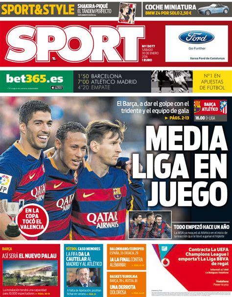La Liga en juego para las portadas de los periódicos ...