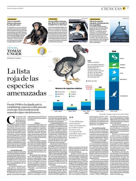 La Lista Roja de Las Especies Amenazadas | Extinción ...