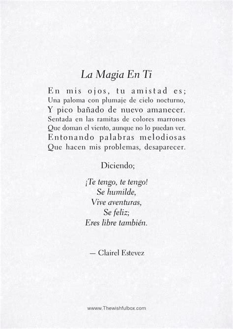 La Magia En Ti: poema de amor y amistad. Escritos y ...