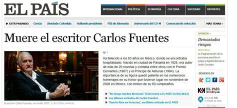 La muerte de Carlos Fuentes en la prensa internacional ...