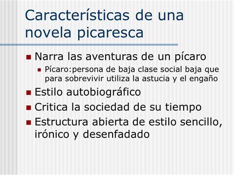 La novela picaresca y sus características   RESUMEN FÁCIL
