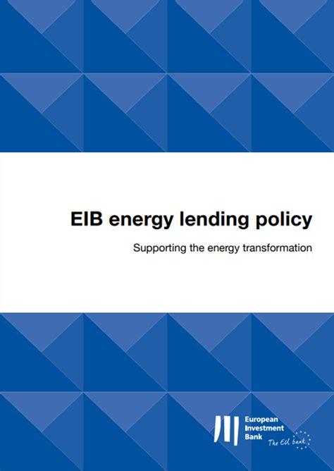 La nueva política de préstamos de energía del Banco ...