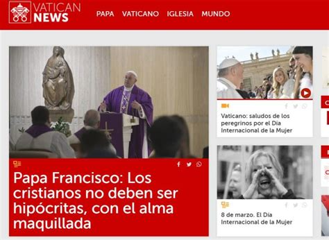 La página web de comunicación del Vaticano se suma al 8 M ...