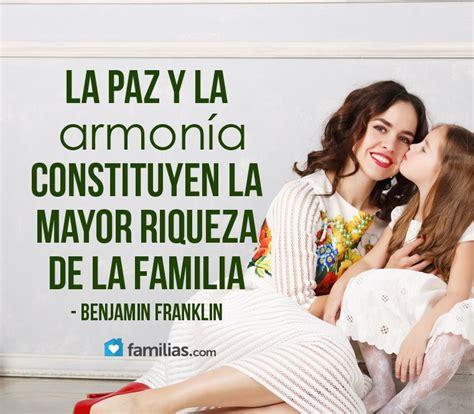 La paz y la armonía son la mayor riqueza en la familia ...
