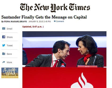 La prensa extranjera interpreta que el Santander  coge el ...