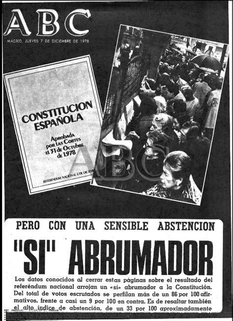 La ratificación de la constitución española de 1978, la ...
