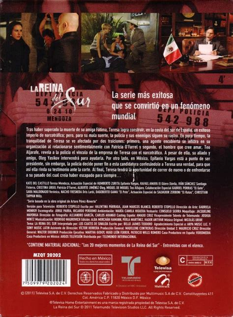 La Reina Del Sur Serie Completa Parte 1 Y 2 Paquete Dvd ...