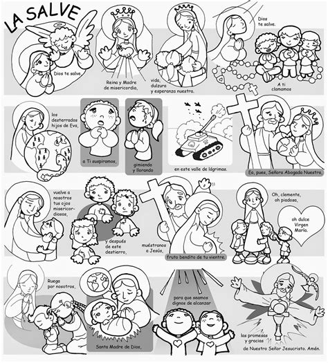 LA SALVE | Catequesis, Oraciones basicas, Oraciones para niños