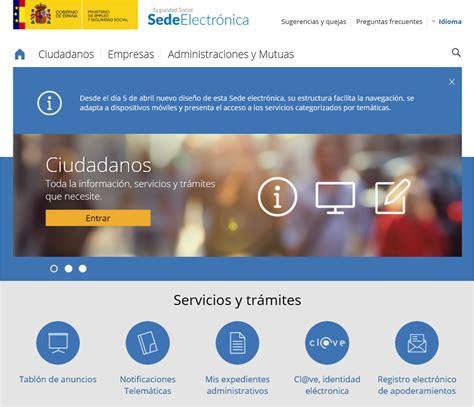 La Seguridad Social estrena sede electrónica | Consejo ...