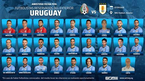 La selección de Uruguay da a conocer su convocatoria para ...