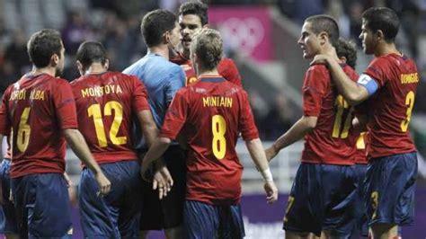 La selección española de fútbol queda eliminada de los Juegos