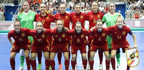 La selección española de fútbol sala femenina jugará dos ...