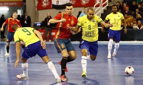 La selección española de fútbol sala se prueba con un ...