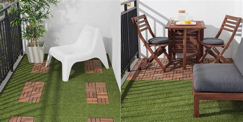 La tarima de césped artificial de Ikea para terraza y balcón