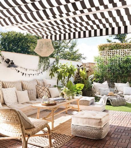 La terraza de una famosa influencer con muebles de IKEA ...