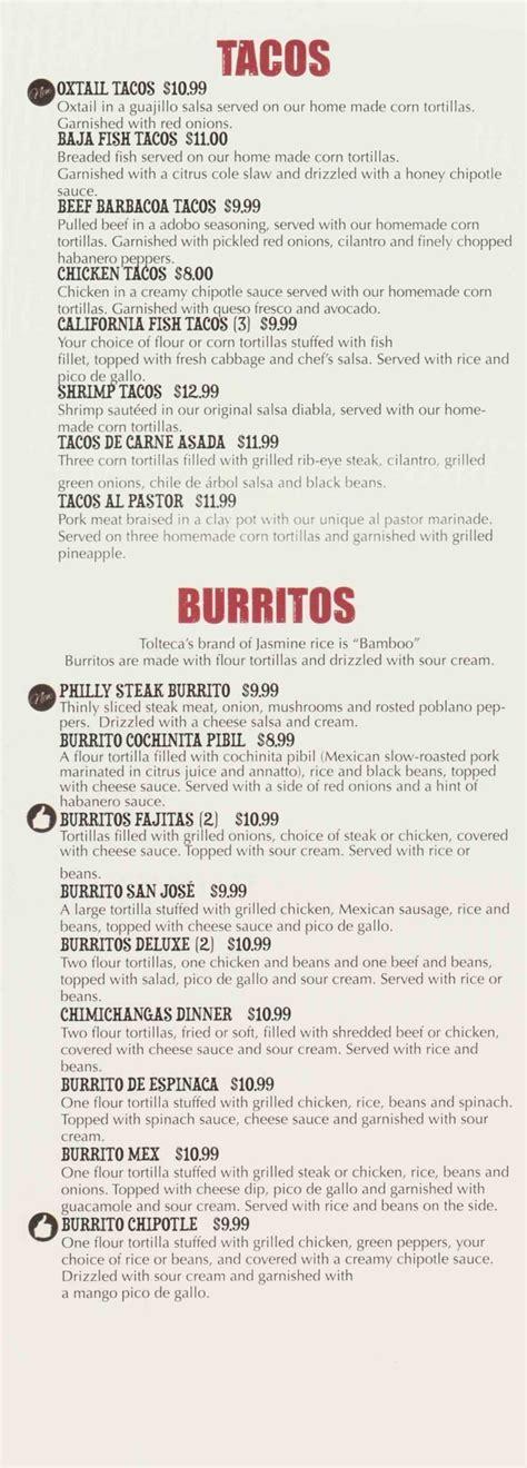La Tolteca Menu   Authentic Mexican Food   Wilkes Barre ...