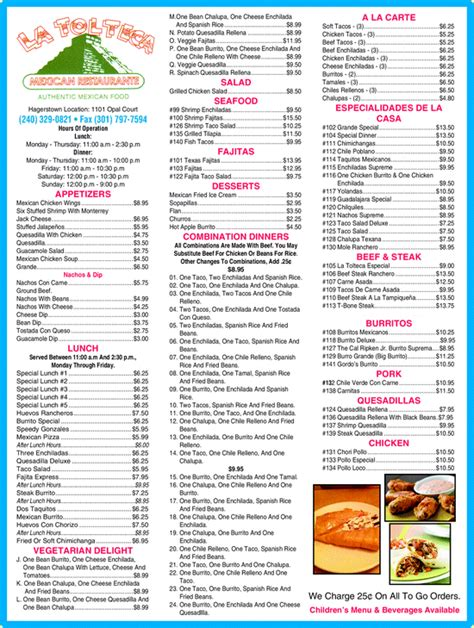 La Tolteca Mexican Restaurant, Hagerstown, MD 21740 ...