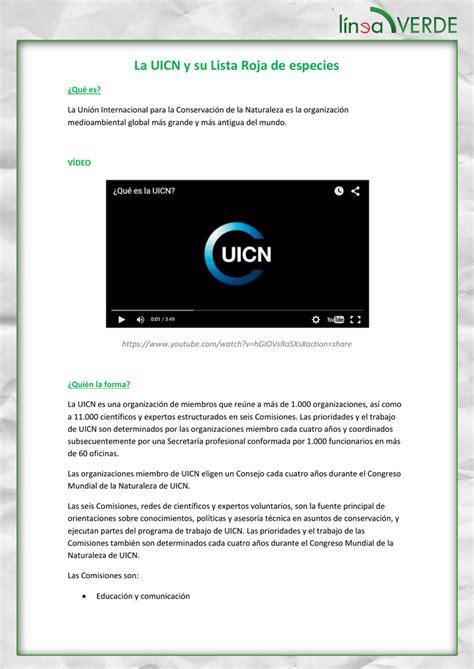 La UICN y su Lista Roja de especies