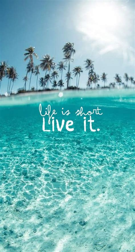 La vida es corta ¡vívela! #Frases #Verano #Summer ...