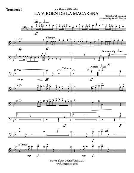 La Virgen de la Macarena  Solo Trumpet and Concert Band ...