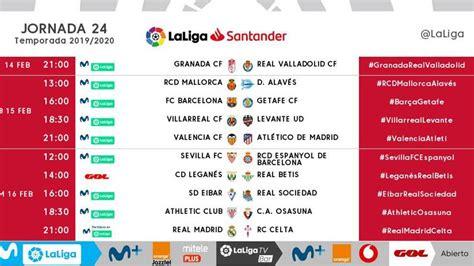 LaLiga Santander 2019   20: Horarios de la jornada 24 de ...