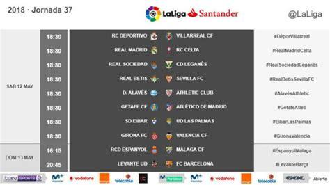 LaLiga Santander: Horario unificado y provisional para ...