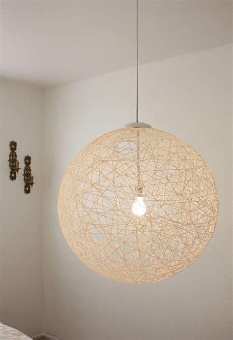 Lámpara hecha con un globo o una pelota.  DIY  | Lámpara ...