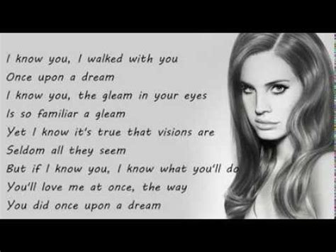 Lana Del Rey   Once Upon A Dream Lyrics On Screen HD   YouTube
