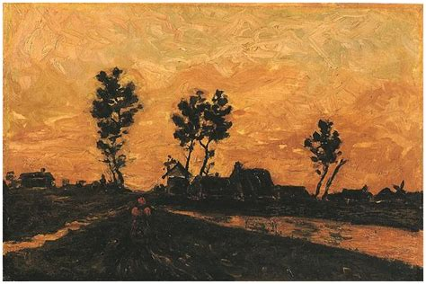 Landscape at Sunset by Vincent Van Gogh   258   Painting