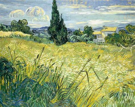 Landscape with Green Corn   oil painting with Vincent van ...
