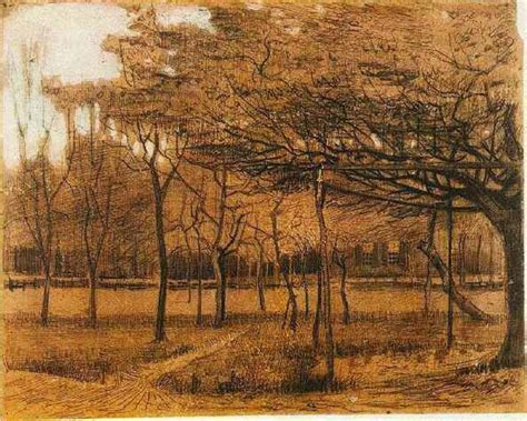 Landscape with Trees, 1881   Vincent van Gogh   WikiArt.org