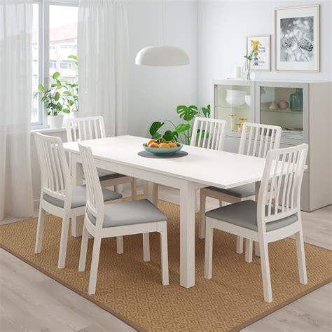 LANEBERG / EKEDALEN Mesa con 4 sillas, blanco, blanco gris ...