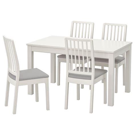 LANEBERG / EKEDALEN Tavolo e 4 sedie   bianco, bianco ...