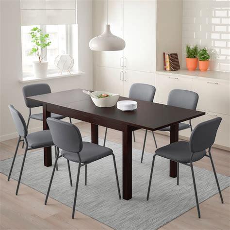 LANEBERG / KARLJAN Mesa con 4 sillas, marrón, gris oscuro ...