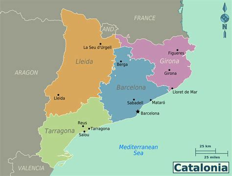 Large Catalonia Maps for Free Download and Print | High ...