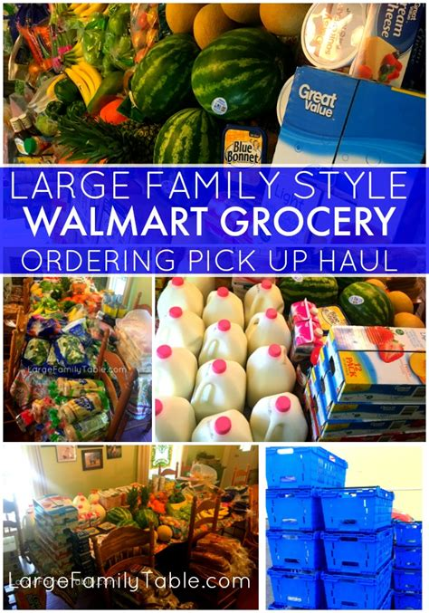 LARGE FAMILY STYLE WALMART GROCERY ORDERING PICKUP HAUL ...