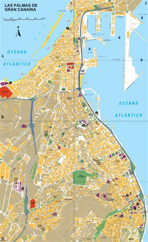 Large Las Palmas Maps for Free Download and Print | High ...