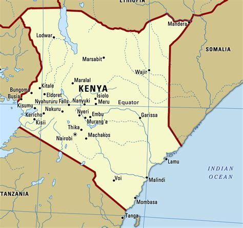 Large map of Kenya with cities   Kenya   Africa   Mapsland ...