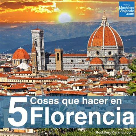 Las 10 MEJORES cosas que hacer en Florencia   Viajar a italia