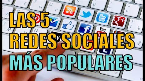 LAS 5 REDES SOCIALES MÁS POPULARES DEL MUNDO   YouTube