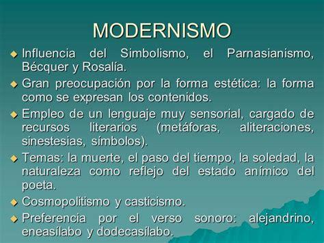 Las 9 CARACTERÍSTICAS del MODERNISMO literario   ¡¡RESUMEN ...