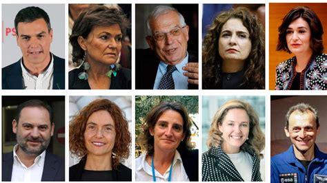 Las biografías de los ministros de Pedro Sánchez