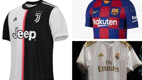 Las camisetas de los equipos de fútbol para la temporada ...