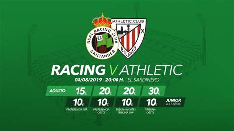 Las entradas para el partido Racing  Athletic, a la venta ...