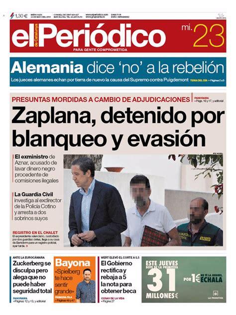 Las portadas de los periódicos de hoy, miércoles 23 de ...