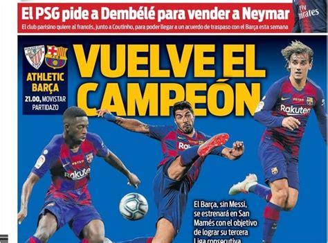 Las Portadas Deportivas 16/08/2019 | Marca, As, Sport ...