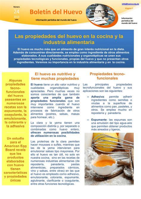 Las propiedades del huevo en la cocina y la industria